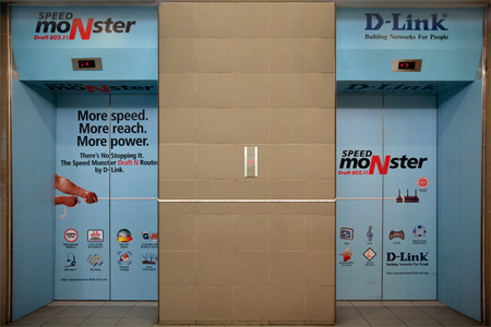 D-Link Elevator Advertisement