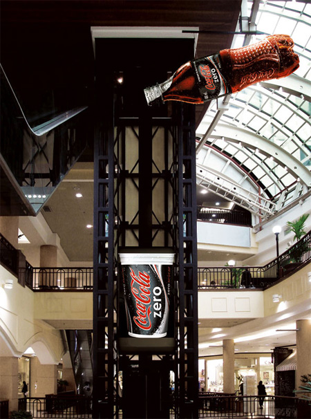 Coca Cola Zero Elevator Advertisement