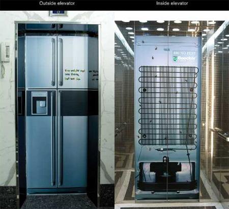 Boecker Pest Control Elevator Advertisement