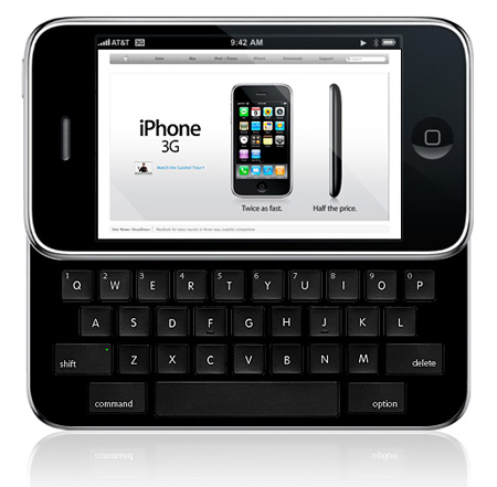 iPhone Slider Qwerty Concept