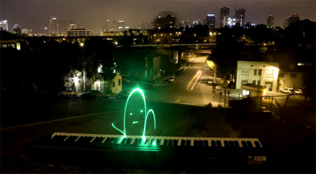 Light Paint Piano Player