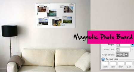 Photoshop and Illustrator Magnetic Photo Boards
