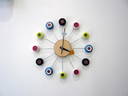 Skateboard Clock