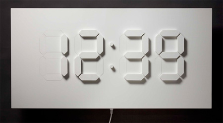 Modern clocks and creative clock designs Cool digital wall clock