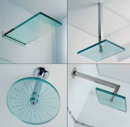 Euridice Glass Shower Heads