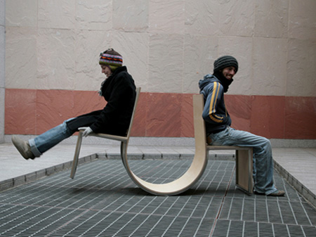 Seesaw Swingers Chair by Jaebeom Jeong