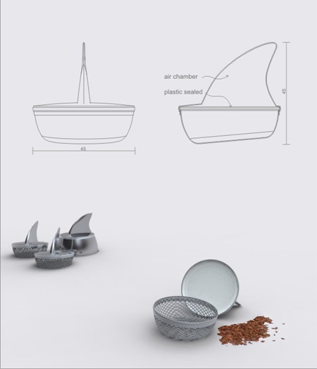 Sharky Tea Infuser by Pablo Matteoda 3