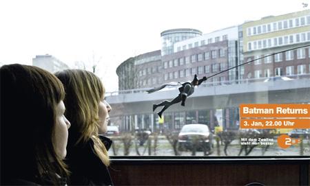 Batman Returns with ZDF Batbus Ad Campaign