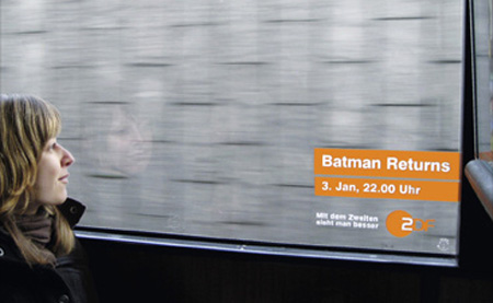 Batman Returns with ZDF Batbus Ad Campaign 2