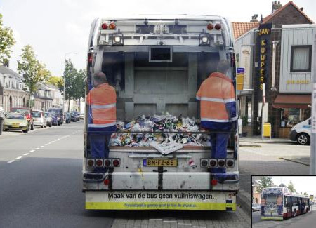 Keep Holland Clean Bus Advertisement