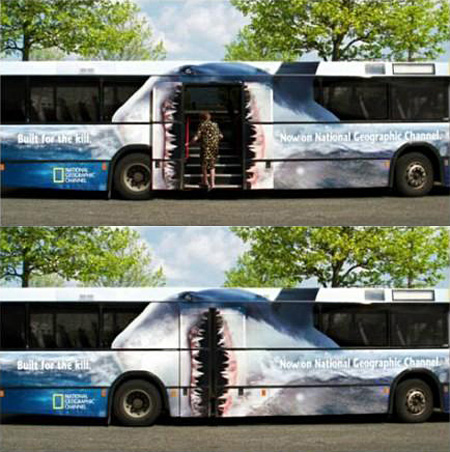 National Geographic Bus Advertisement