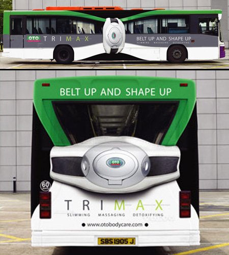 OTO Trimax Slim Bus Advertisement