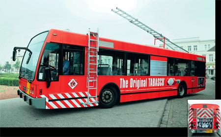 Tabasco Bus Advertisement
