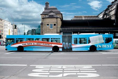 Dr Best Bus Advertisement