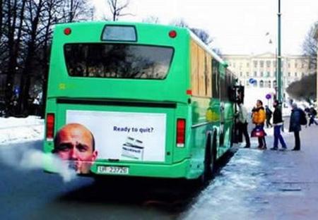 Stop Smoking Bus Advertisement