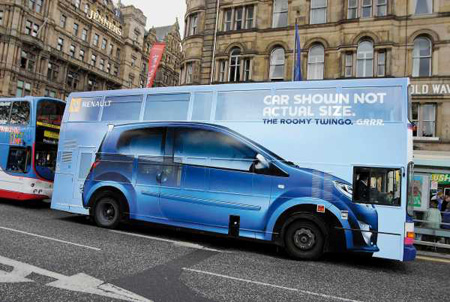 Renault Bus Advertisement