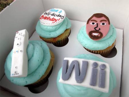 Nintendo Wii Cupcakes