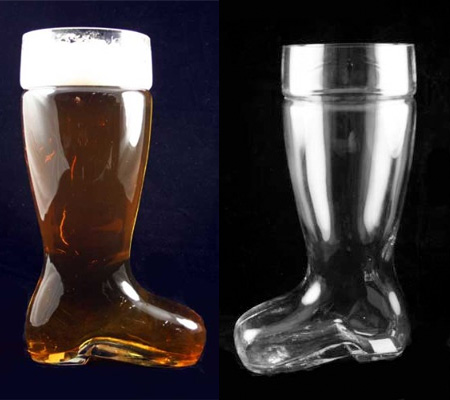 Glass Beer Boot