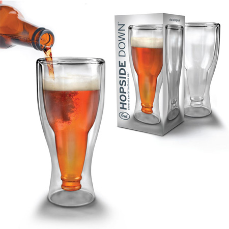 Hopside Down Glass