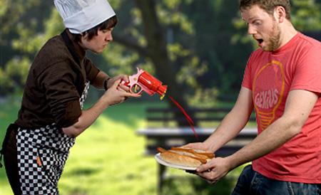 Ketchup Gun