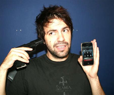 iPhone Gun Handset