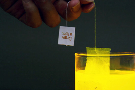 Lighting Tea Bag by Wonsik Chae