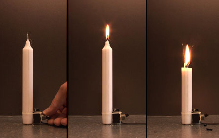 Electronic Candle by Aram Bartholl