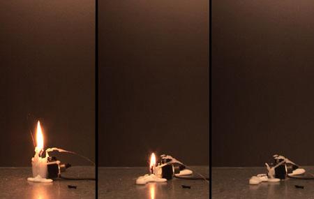 Electronic Candle by Aram Bartholl 2