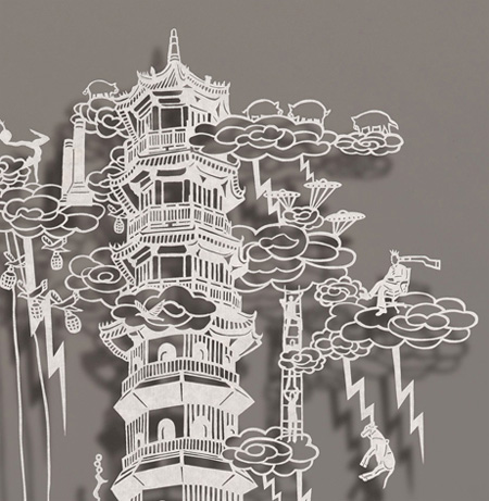 Paper Cutout Drawings by Bovey Lee 4