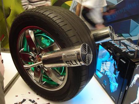 Porsche Cayenne Wheel PC Case Mod