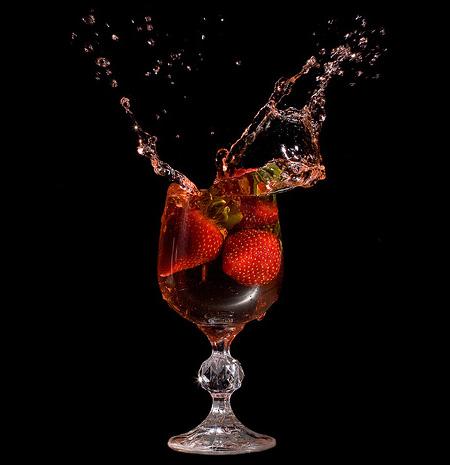 Strawberries on Black by Rich Legg