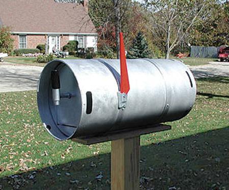 Beer Keg Mailbox