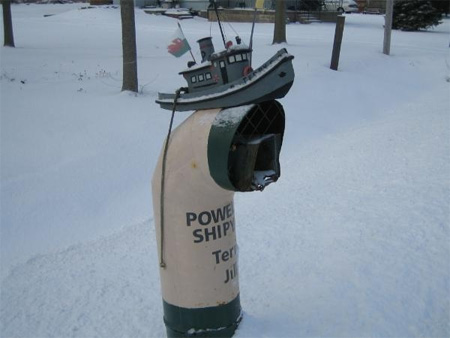 Tugboat Mailbox