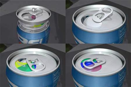 Resealable Soda Can
