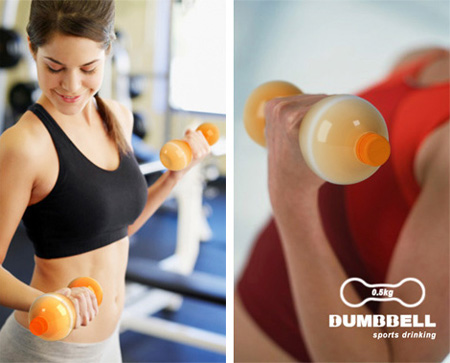 Dumbbell Sports Drink Packaging