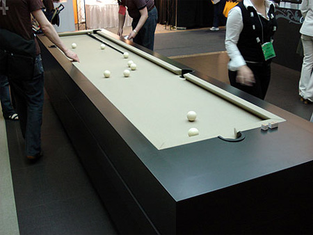 rectangular pool table