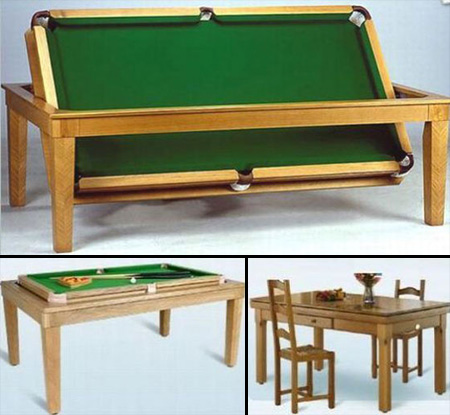 15 unusual and creative pool tables - Table billard transformable ...