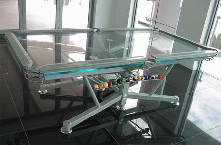 Glass Pool Table