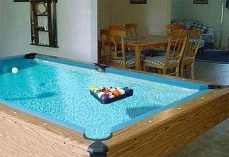 15 unusual and creative pool tables for Swimming pool room decor