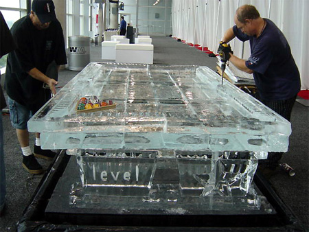 Perfect Ice Sculpture Pool Table