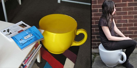 Tea Cup Stool by Holly Palmer