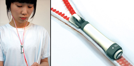 Zipper Earphones by Ji Woong
