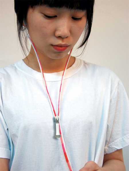 Zipper Earphones by Ji Woong 7