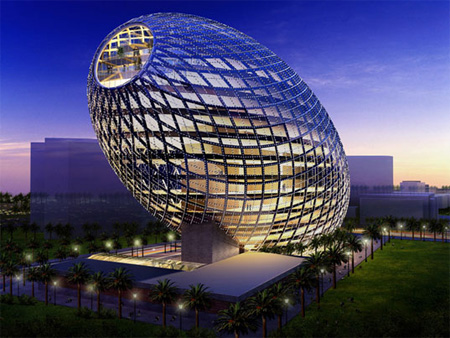 Cybertecture Egg Building