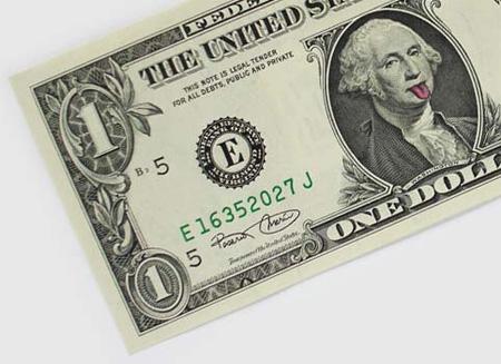 One Dollar Bill Art by Atypyk 2