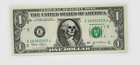 One Dollar Bill Art by Atypyk 6