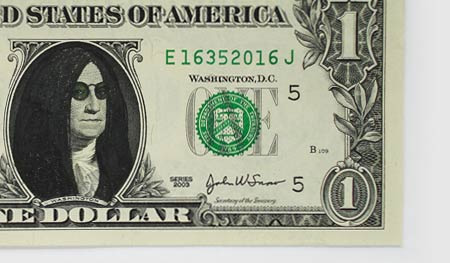 One Dollar Bill Art by Atypyk 10
