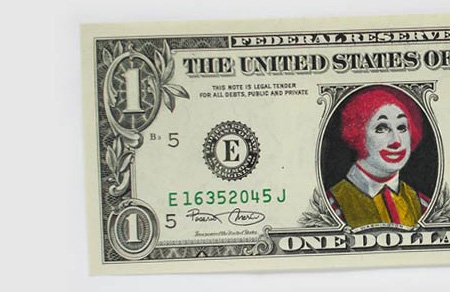 One Dollar Bill Art by Atypyk 20