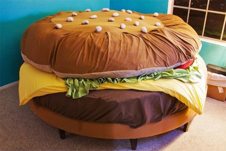 Hamburger Bed by Kayla Kromer