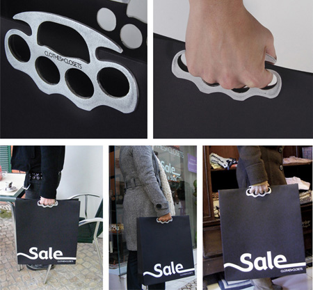 Brass Knuckle Shopping Bag